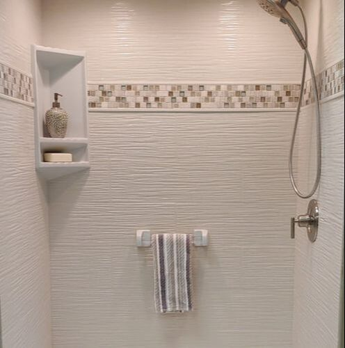 Wavy Tile Finish Wall panel